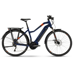 HAIBIKE SDURO Trekking 5.0 Dames, blue/orange/titan